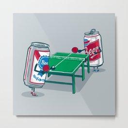 Beer Pong Metal Print