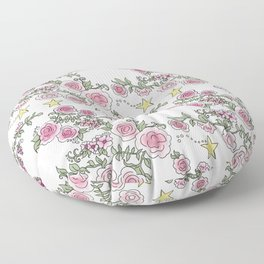 Project 52 | Pale Roses on White Floor Pillow