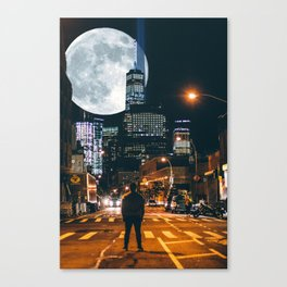 Jeremy And The Whole Moon Canvas Print