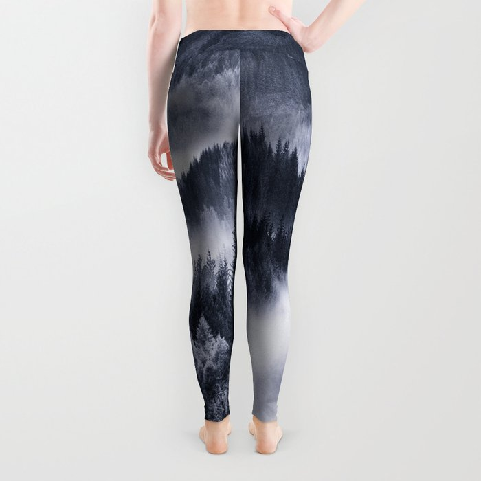 Misty Forest Mountains Leggings
