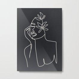 Abstract Minimal Woman III Metal Print