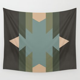 Green Star  - does it belong in the Forest or in the Space?? Wall Tapestry