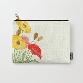 red and yellow  poppies Carry-All Pouch