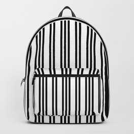 Black and White Piano Stripes Repeating Pattern Backpack