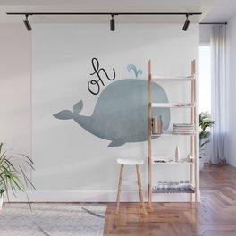 Oh Whale Wall Mural