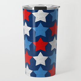 Red white and blue stars pattern Travel Mug
