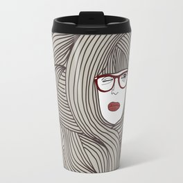 Long Hair Woman Travel Mug