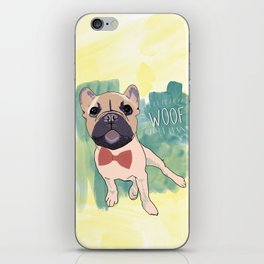 Frenchie Art. Bruno. iPhone Skin