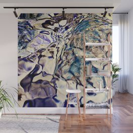abstract stone and running water Wall Mural