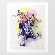 2014 World Cup Stars Art Print