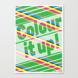 Colour it up! Canvas Print