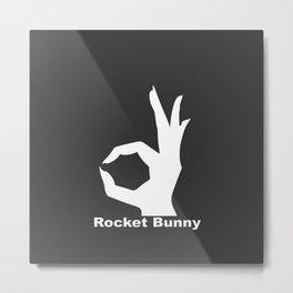 Rocket Bunny Metal Print