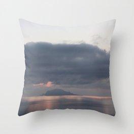 sunrise over the sea, sicily Throw Pillow