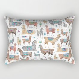 Llamas and Alpacas Rectangular Pillow