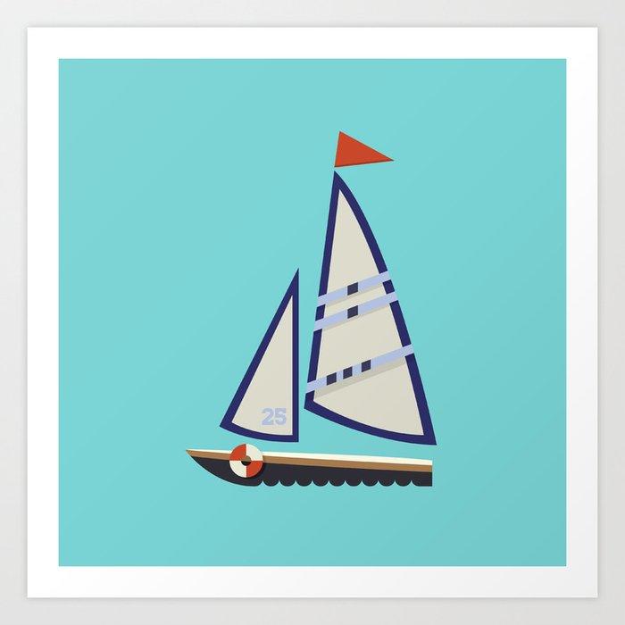 Sailboat I Art Print