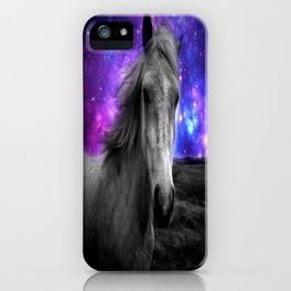 Horse Rides & Galaxy Skies iPhone Case