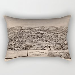 Aerial View of Terryville, Connecticut (1894) Rectangular Pillow