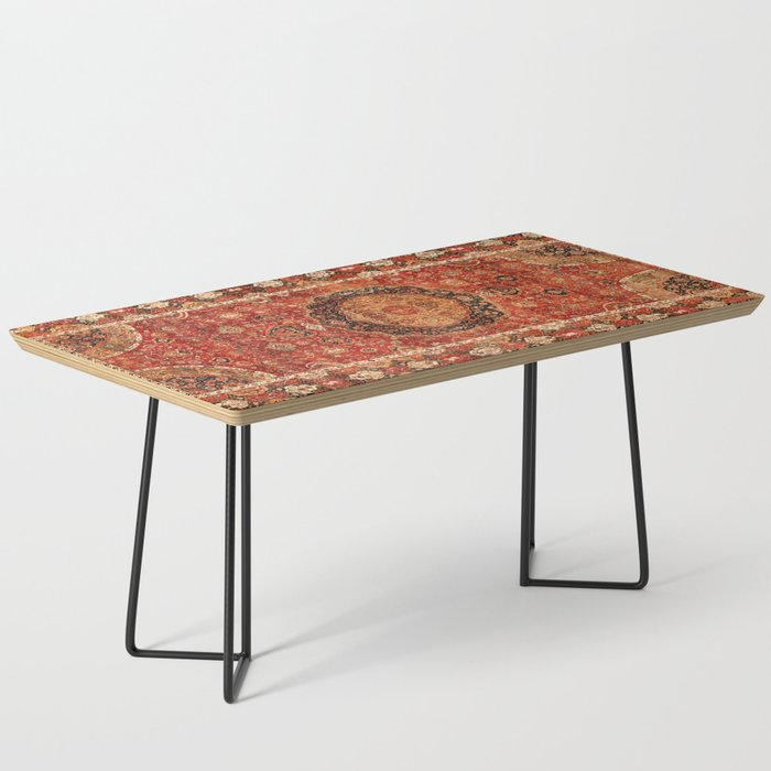 Seley 16th Century Antique Persian Carpet Print Coffee Table