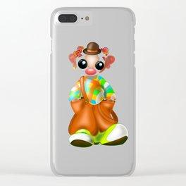 Sad Little Clown Clear iPhone Case