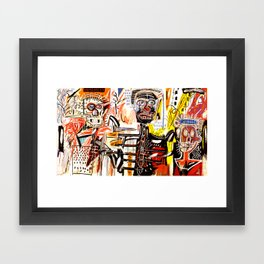 Jean-Michel Basquiat - Philistines 1982 Framed Art Print