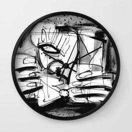 Drinker - b&w Wall Clock