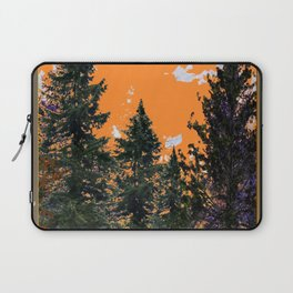 CHARCOAL GREY WESTERN PINE TREES  LANDSCAPE Laptop Sleeve