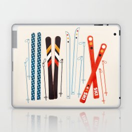Retro Ski Illustration Laptop & iPad Skin