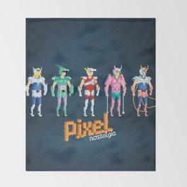 Saint Seiya - Pixel Nostalgia Throw Blanket