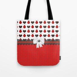 Ladybug and Hearts Tote Bag