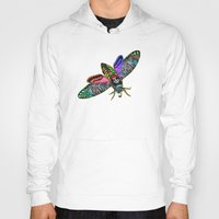 goth Hoodies featuring Goth Moth by Jan4insight