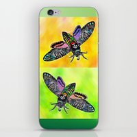goth iPhone & iPod Skins featuring Goth Moth by Jan4insight