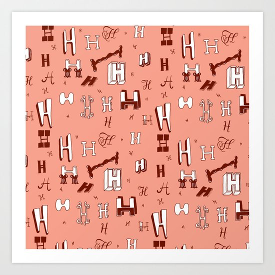 Letter Patterns, Part H Art Print