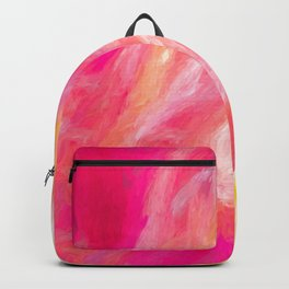 Bright Abstract -  Fuscia and Yellow Backpack