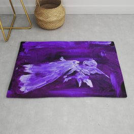 Guardian Angel - Dark Purple Rug