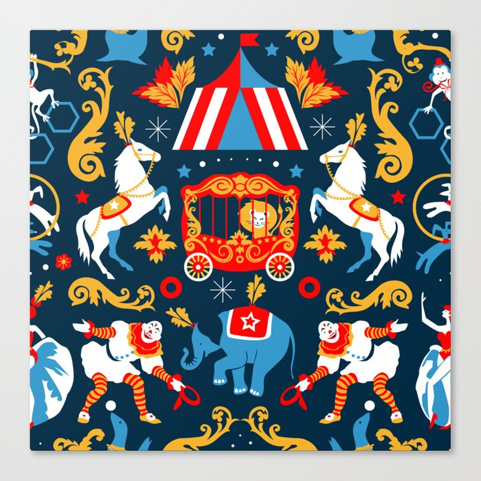 Circus royal Canvas Print