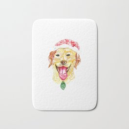 Cute Christmas Dog Bath Mat