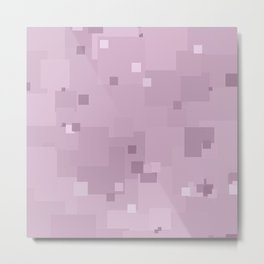 Winsome Orchid Square Pixel Color Accent Metal Print