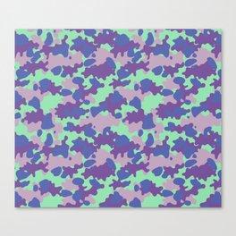 Camouflage Blot Canvas Print