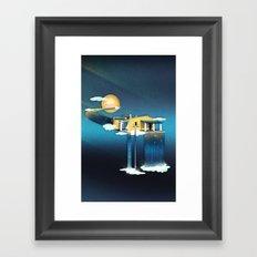 Castle in Heaven Framed Art Print