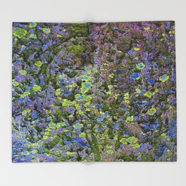 Abstract Flowers Nature Throw Blanket