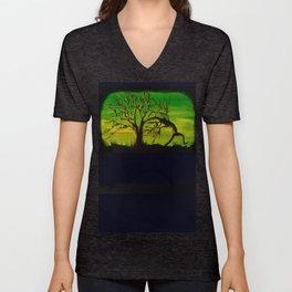 The BIG Escape - Psychedelic Tree Art Unisex V-Neck