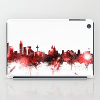 liverpool iPad Cases featuring Liverpool England Skyline by artPause