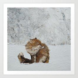 Winter's Brace Art Print
