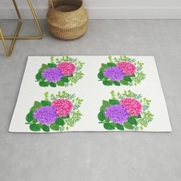 Pink and Purple Roses Rug