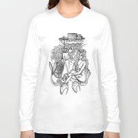 mermaids Long Sleeve T-shirts featuring Mermaids by Christina Dedic