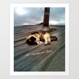 All Tuckered Out Art Print
