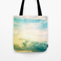 Pastel Abstract Sky  Tote Bag