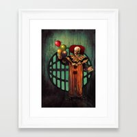 pennywise Framed Art Prints featuring Pennywise by Monsterinbox
