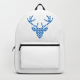 Reindeer head graphic knitting pattern for hunters or christmas Backpack