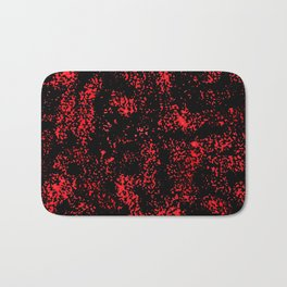 Red Black Abstract Bath Mat